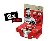 BRISK Bart-Balm, Pflege & Styling für den Bart, mit Hanföl, Bartwachs, 100 % natürliche Inhaltsstoffe, Bartpflege für weiche Barthaare, 2 x 40 g