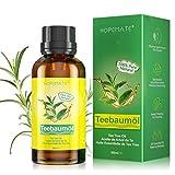 Teebaumöl 100% Reines und Naturrein, 60ML Tea Tree Oil Anti Pickel, Akne, Warzen und Andere Hautprobleme, Vegan Teebaum Ätherisches Öl für Unreine Haut, Gesicht, Kopfhaut und Haare