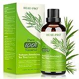 Teebaumöl 100% Pure Natürrein 100ML - Tea Tree Oil für Shampoo Gesicht Körper, Anti Pickel, Akne Öl, Acne Serum gegen Unreine Haut Warzen, Mitesser, Schuppen, Vegan Teebaum Ätherische Öle für Diffuser