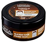 L'Oréal Men Expert Barber Club Slicked Hair Fixing Wax: Haarwachs Styling Produkt; Sehr starker Halt; Männlicher Duft; Slick Look Frisur ohne verkleben, 75ml